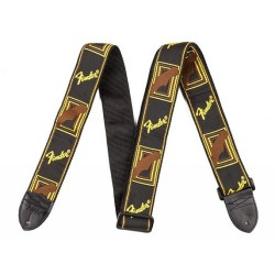 FENDER Monogram Strap Black/Yellow/Brown