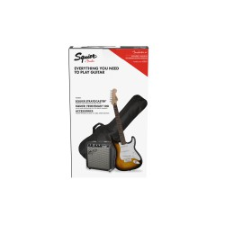 FENDER SQUIER Pack Affinity Strato Frontman 10G Brown Sunburst