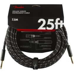 Fender Deluxe Series Cable Instrumento 7,6m Black Tweed