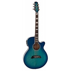 Takamine TSP178AC Thinline See-Thru Blue Burst
