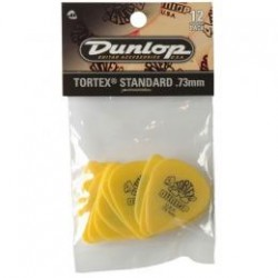 DUNLOP Pack 12 Puas Tortex Standard 0,73mm