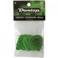 DUNLOP Pack 12 Puas Tortex Standard 0,88mm