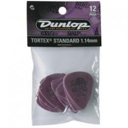 DUNLOP Pack 12 Puas Tortex Standard 1,14mm