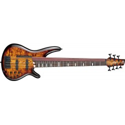 Ibanez SRAS7-DEB Fretted & Fretless Dragon Eye Burst