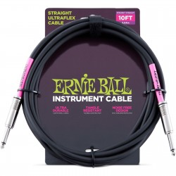 ERNIE BALL Cable UltraFlex 3Mts Black