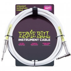ERNIE BALL Cable UltraFlex 3Mts White